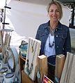 Ceramic artist and potter Laura Hanley at a Summit NJ street fair 2.jpg