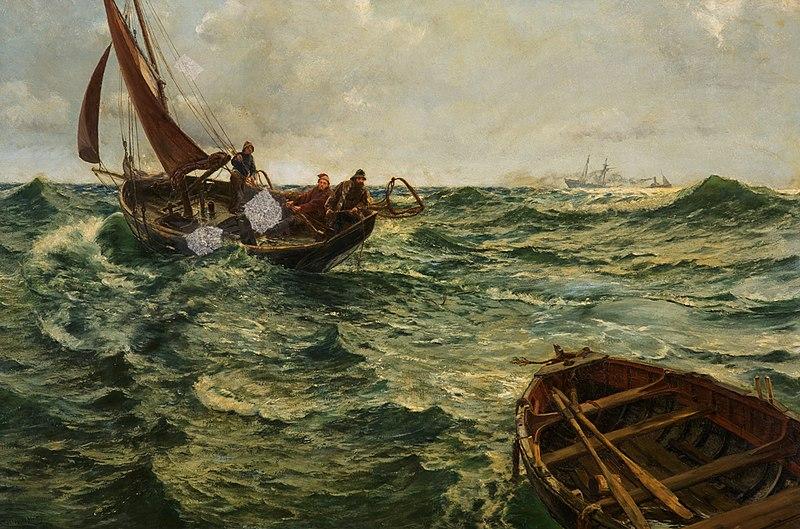 Charles Napier Hemy - Boat Adrift