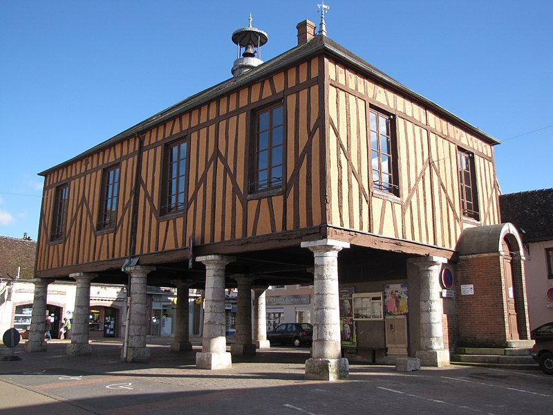 Charny, Yonne, Bourgogne, France. The market hall.