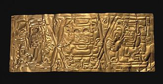Andean civilizations - Chavín Gold Crown Formative Epoch 1200-300 BCE (Larco Museum Collection, Lima).