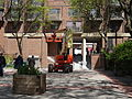 Cherry picker in pedestian courtyard SW of Sherbourne and Front, 2015 05 22 (2) (17390222714).jpg