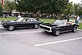 Chevrolet Camaro 1967 SS Convertible Plymouth Barracuda 1974 Black LSideFronts LakeMirrorClassic 17Oct09 (14413918918).jpg