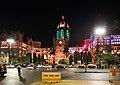 Chhatrapati shivaji terminus, esterno di notte 01.jpg