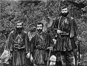 Michail Anagnostakos - Anagnostakos (centre) with his comrades.