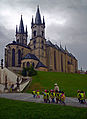 Children near Church of St. Nicolas in Cheb, Czech Republic.JPG