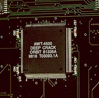 "EFF DES cracker - The EFF's DES cracker ""Deep Crack"" custom microchip"