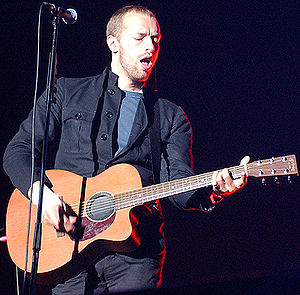 Grammy Award for Best Alternative Music Album - Chris Martin of the two-time award-winning band Coldplay (pictured in 2003)