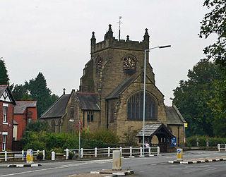 Christ Church, Rossett Church in Wrexham County Borough, Wales