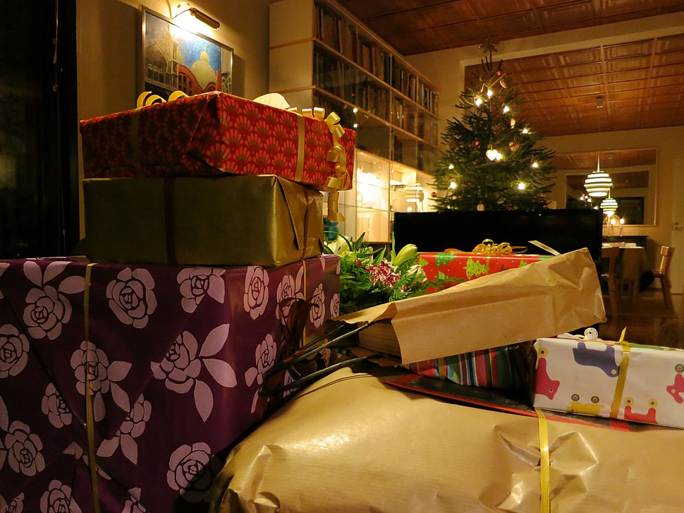Christmas presents and a tree