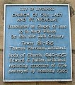 Church of Our Lady and Saint Nicholas, Liverpool plaque.jpg