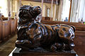 Church of St Mary Hatfield Broad Oak Essex England - St Luke bull sculpture.jpg