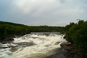 Näätämö (river) - Waterfall on the Näätämö in Norway