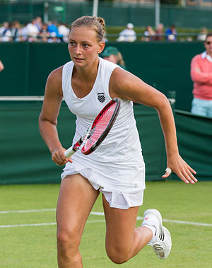 Cindy Burger (tennis) - Burger 2015 at the Wimbledon<br>qualifying tournament