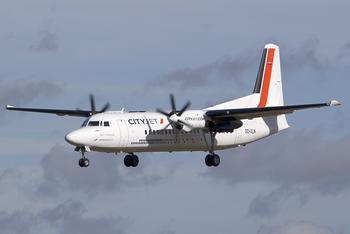 CityJet Fokker 50 OO-VLN LUX 2010-2-27.png