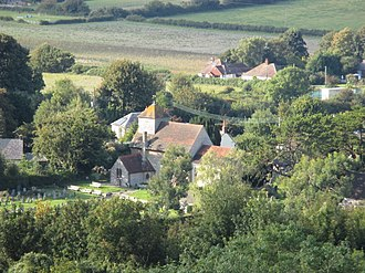 Clayton, West Sussex - Image: Clayton church from above