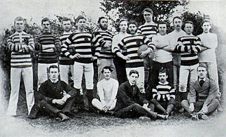Clifton Rugby Football Club - The first ever photograph of a Clifton RFC team (1873).