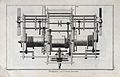 Clocks; the plan of a horizontal clock mechanism. Engraving Wellcome V0023795.jpg