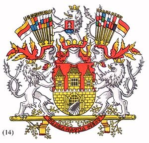 Coat of arms of Prague - Image: Coat of arms of Prague (before 1960)
