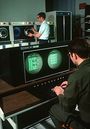 Cobra Dane - Personnel inside the data processing center, June 1977
