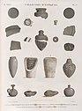 Collection d'antiques. 1-3.6.7.10.11.17.20. Vases antiques de la Haute Égypte; 8.16. Autres vases; 4.5.9.12. Verres colorés et porcelaine antiques; 13-15.18.19. Pots de momie et lampes (NYPL b14212718-1268244).jpg