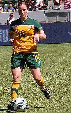 Collette McCallum - McCallum playing for the Matildas in 2012