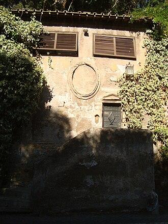 Columbarium of Pomponius Hylas - Entrance of the columbarium Pomponius Hylas on via Appia.
