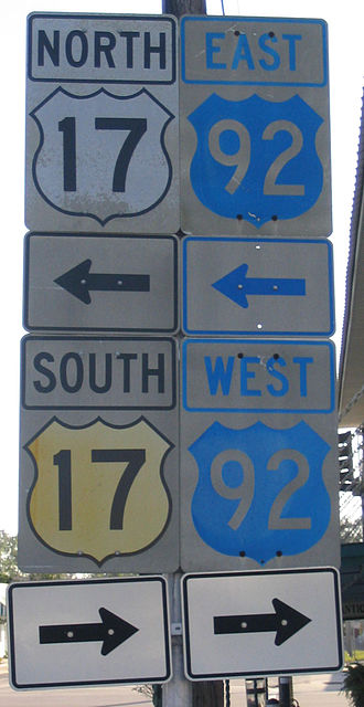 U.S. Route 92 - Older US 17/92 shields in Lake Alfred