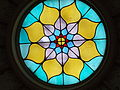 Colorful stained glass. Skylight .- Hungarian Culture Hall. Buda Castle Quarter, Budapest.JPG