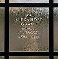 Commemorative glass engraving to Sir Alexander Grant at National Library of Scotland in Edinburgh.jpg