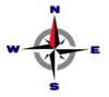 Compass rose transparent
