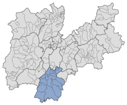 Location of Vallagarina within Trentino.