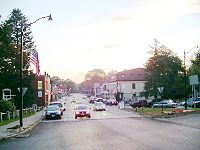 Main Street from Monument Square, Concord, MA.