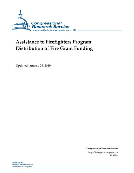 File:Congressional Research Service Report RL32341 - Assistance to Firefighters Program - Distribution of Fire Grant Funding.pdf