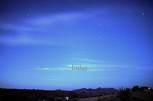 Indus (constellation) - The constellation Indus as it can be seen by the naked eye.