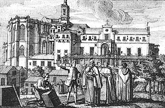 Carmo Convent (Lisbon) - A drawing of the convent in 1745, before the 1755 Lisbon earthquake