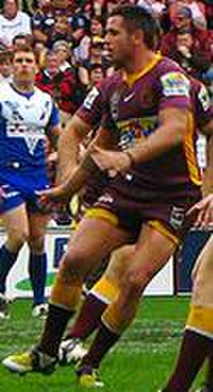 Corey Parker (rugby league) - Parker in action against the Bulldogs