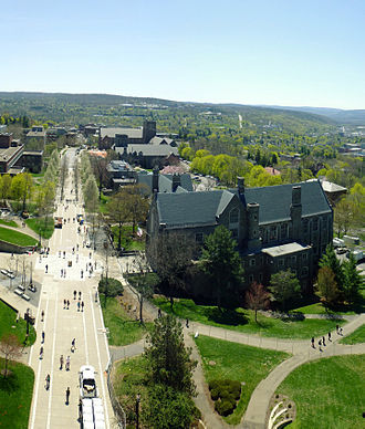 Willard Straight Hall - Willard Straight Hall and Ho Plaza as seen from McGraw Tower