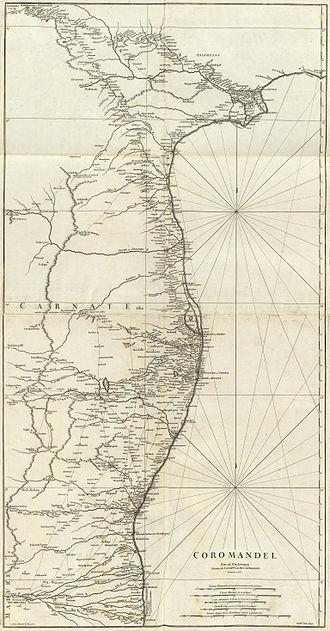 Coromandel Coast - Image: Coromandel Coast 1753