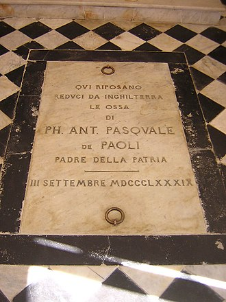 Morosaglia - The tomb of Pasquale Paoli in his house of birth