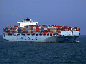 Cosco China p1 approaching Port of Rotterdam, Holland 19-Jul-2007.jpg