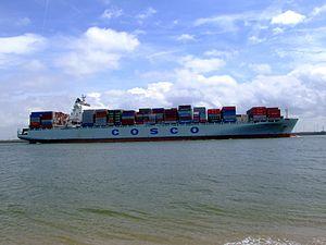 Cosco Long Beach p3 approaching Port of Rotterdam, Holland 14-Jul-2007.jpg