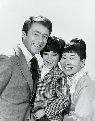 Bill Bixby - With The Courtship of Eddie's Father co-stars, Brandon Cruz and Miyoshi Umeki