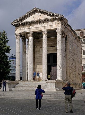 Roman temple - Temple of Augustus in Pula, Croatia, an early temple of the Imperial cult