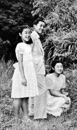 Atsuko Ikeda - Image: Crown Prince Akihito and sisters 1950 9