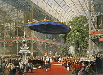 Great Exhibition - Queen Victoria opens the Great Exhibition in The Crystal Palace in Hyde Park, London, in 1851.