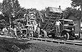 Csorvási betonút építése. Az előtérben, egy Mávag-Mercedes-Benz teherautó, amerikai rendszerű billenő szerkezettel. Forrás-source- National Archives, Washington, USA, RG151 FC. Fortepan 10931.jpg