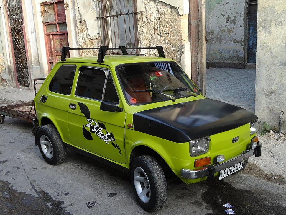 Cuba, Havana, FIAT 126p Polski