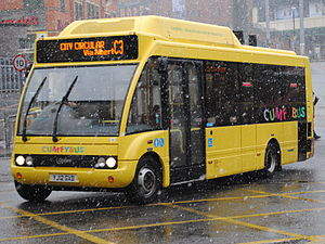 Cumfybus - Optare Solo hybrid in Liverpool in March 2013