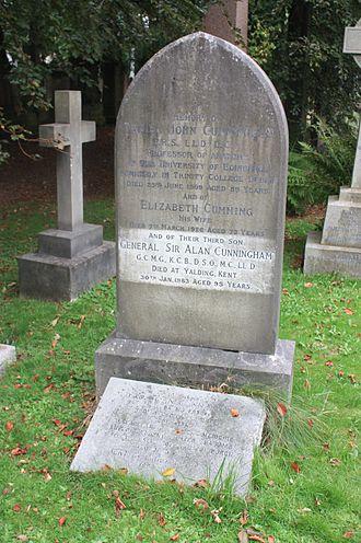 Daniel John Cunningham - Cunningham grave, Dean Cemetery