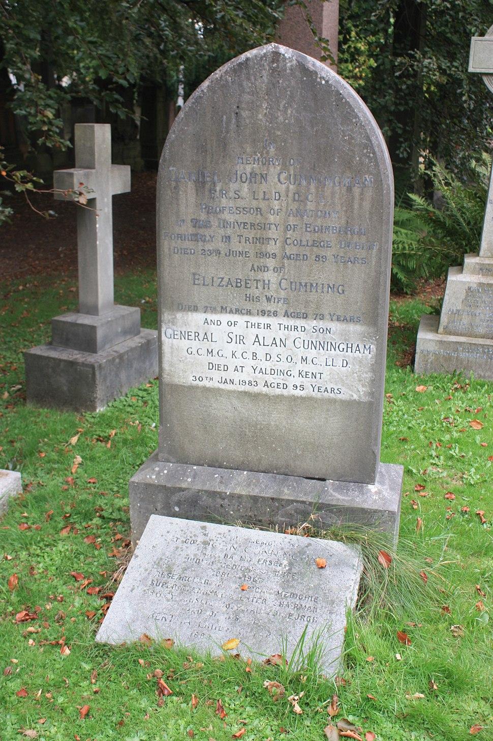 Cunningham grave, Dean Cemetery